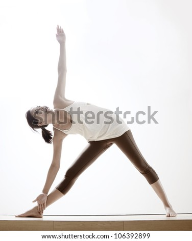 beautiful asian girl with yoga pose