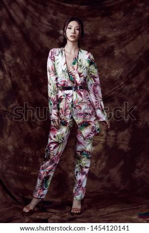 Beautiful Asian woman in Studio wearing traditional clothing #1454120141