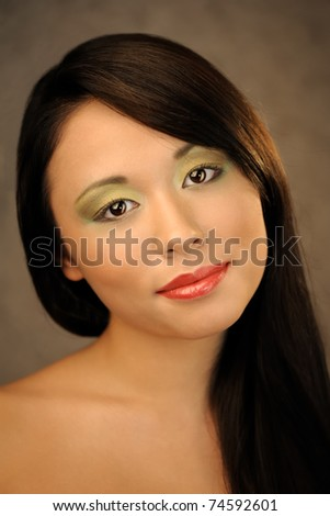 Beautiful asian woman studio portrait