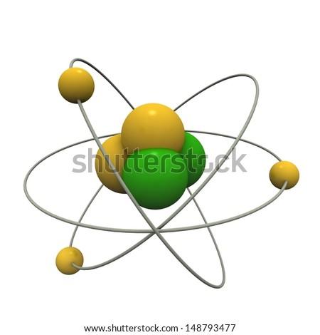 Beautiful atom model
