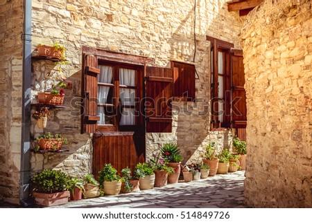 Beautiful authentic cypriot house. Kato Lefkara village. Larnaca District, Cyprus.
