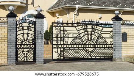 beautiful automatic gate to the ...