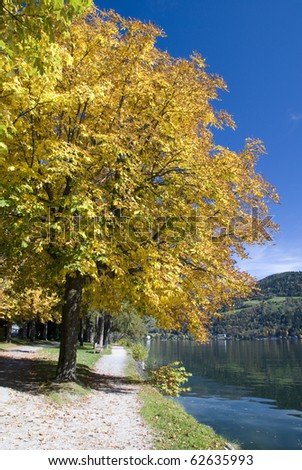 "Beautiful autumn day in ""Zell am See"" Austria"