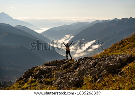 Beautiful autumn hike to Mount Fisht in the North Caucasus in Russia