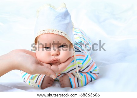 Beautiful baby. Shot in a studio.