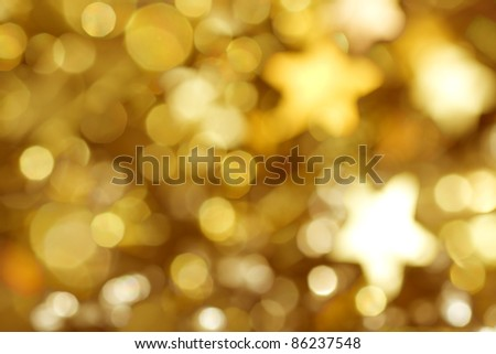 Beautiful background for christmas in colored gold