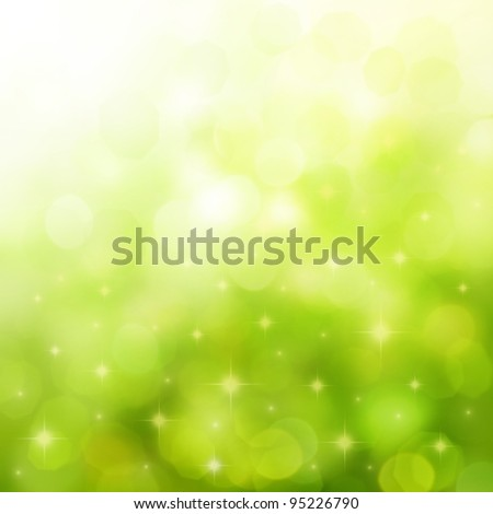 Beautiful background for spring with stars