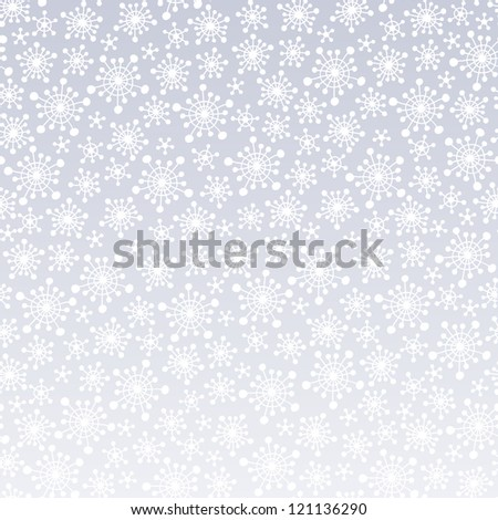 Beautiful background with stylized snowflakes