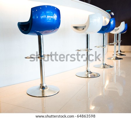 beautiful bar with bar chairs