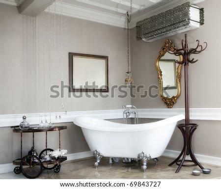beautiful bath in a hotel room #69843727