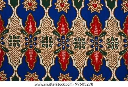 Beautiful batik patterns that become traditional clothes in Malaysia