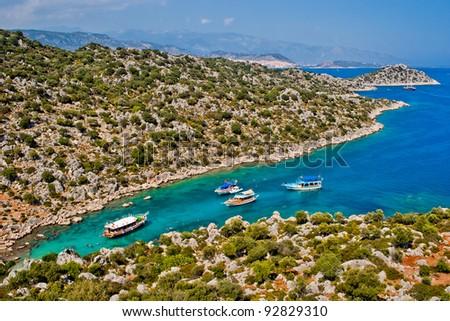 beautiful bay in Mediterranean sea. Turkey. 2010.