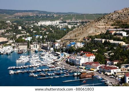 Beautiful bay in summer (Crimea, Balaklava)