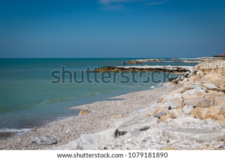Beautiful bay of Marina di Pisa, Tuscany, Italy #1079181890