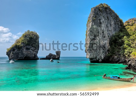 Beautiful bay of Phi Phi island at day time