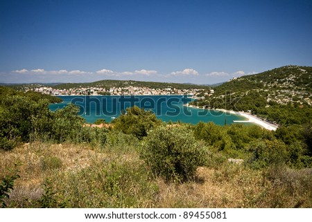 Beautiful bay of Tisno