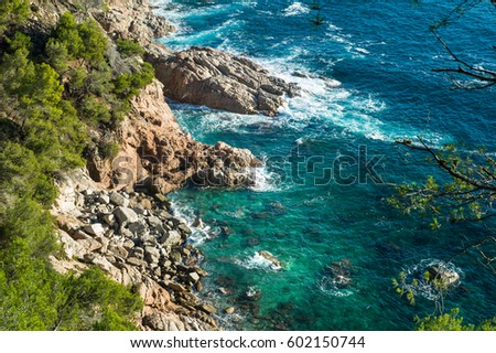 Beautiful bay on the Costa-Brava, Spain #602150744