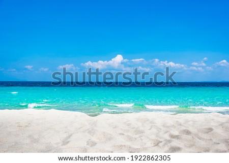 beautiful beach and clean water of bamboo island near Phi Phi islands in Krabi, Thailand