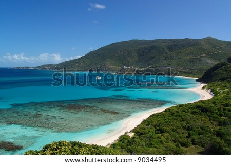 Beautiful Beach and Cove in the British Virgin Islands