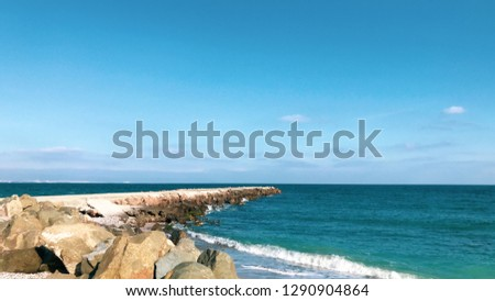 Beautiful Beach And Incredible Sea In Pomorie, Bulgaria. #1290904864