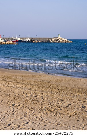 beautiful beach and lighthouse