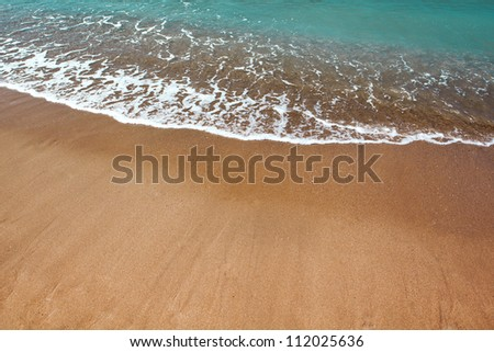 Beautiful beach and ocean waves