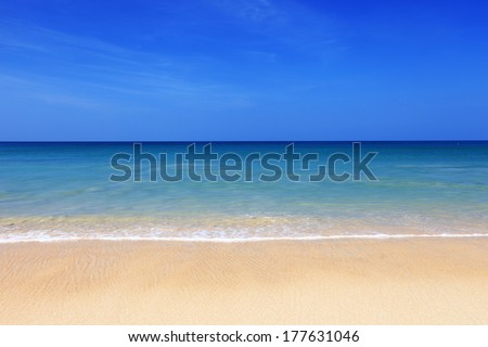 beautiful beach and tropical sea  #177631046