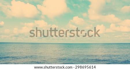 beautiful beach and tropical sea #298695614