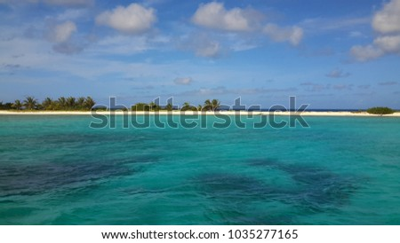 Beautiful beach at Tobego Cays in Saint Vincent and the Grenadines #1035277165