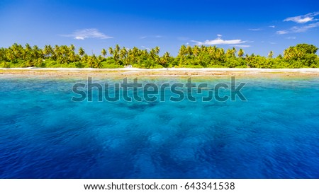 Beautiful Beach. Beach background wallpaper concept. Vacation holiday travel banner background. #643341538