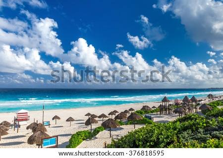 Shutterstock Beautiful beach in Cancun, Mexico - Playa Delfines