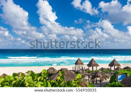 Shutterstock Beautiful beach in Cancun, Mexico - Playa Delfines