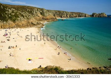 Beautiful beach in Cornwall, Easter weekend.