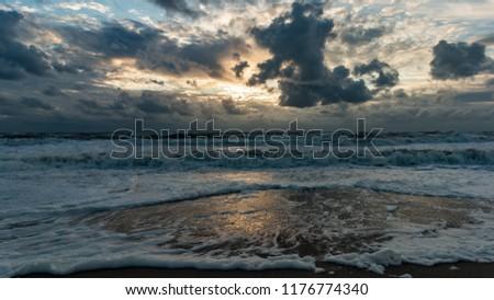 beautiful beach in denmark #1176774340