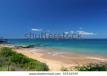 Beautiful beach in Maui, Hawaii