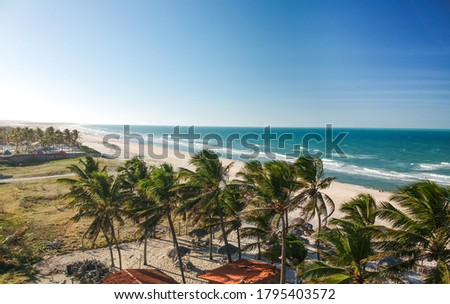 Beautiful beach in Porto das Dunas. Fortaleza, Ceara, Brazil Stock foto ©