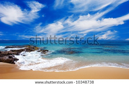 Beautiful Beach in South Australia - stock photo