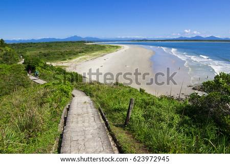 Beautiful beach landscape of Honey Island, Brazil.