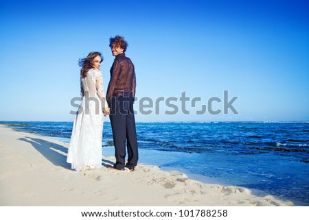 Beautiful beach marriage