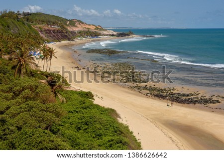 Beautiful beach of Praia do Amor near Pipa on Brazil #1386626642