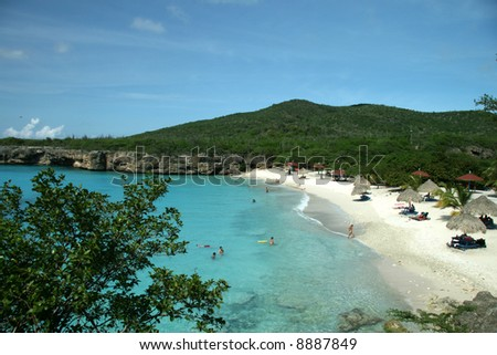 Beautiful beach on Curacao