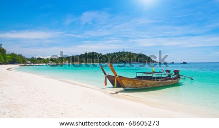 Beautiful beach on Koh Lipe, Andaman Sea,Thailand - stock photo