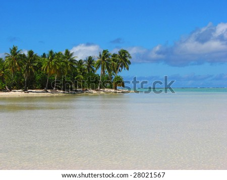 Beautiful beach on Maupiti, French Polynesia