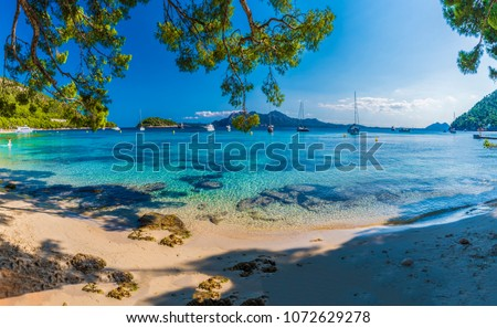 Beautiful beach Playa de Formentor, Palma Mallorca, Spain