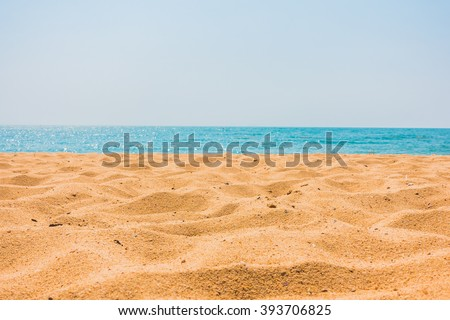 Beautiful beach sand and sea with copy space for background - Boost up color Processing
