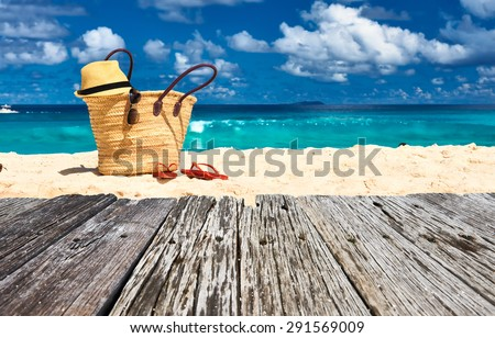 Shutterstock Beautiful beach with bag at Seychelles, La Digue