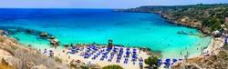 Beautiful beaches of Cyprus island - Konnos Bay in Cape Greko natural park