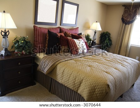 Bedroom on Beautiful Bedroom In New Model Home Stock Photo 3070644   Shutterstock