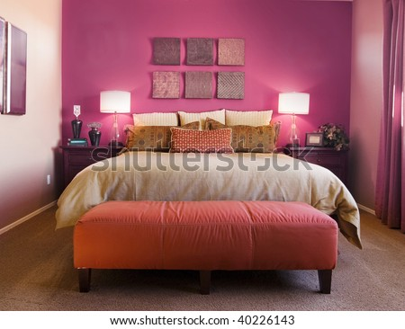 Beautiful Bedroom Interior Design Stock Photo 40226143