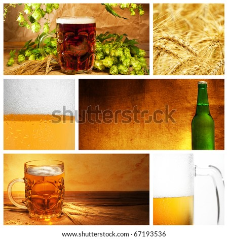 Beautiful beer collage